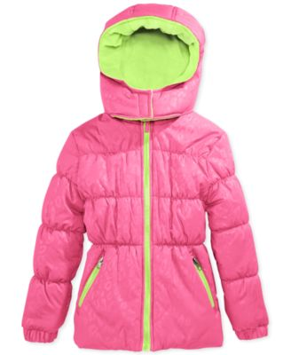 Pink Platinum Girls' or Little Girls' or Toddler Girls' Puffer Coat