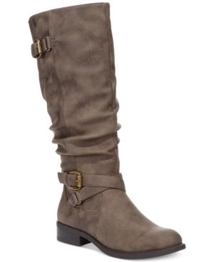 White Mountain Latara Wide Calf Riding Boots - A Macys Exclusive Womens Shoes