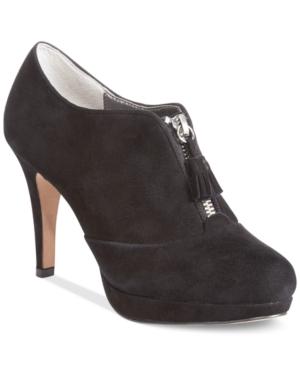 Adrienne Vittadini Plum Booties Women's Shoes