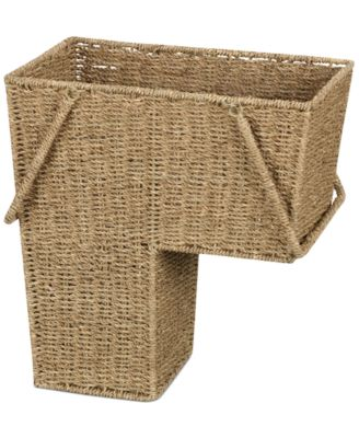 Household Essentials Seagrass Stair Basket with Handles