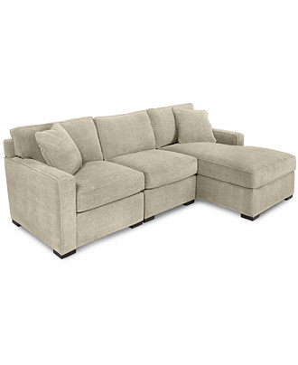 Share for Radley 4 piece fabric chaise sectional sofa