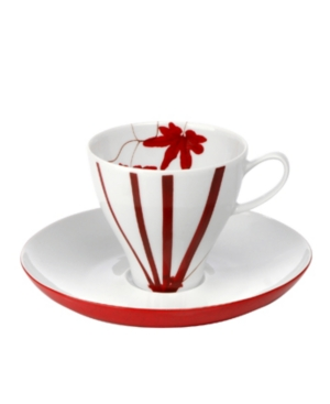 Mikasa Dinnerware, Pure Red Coffee Cup and Saucer