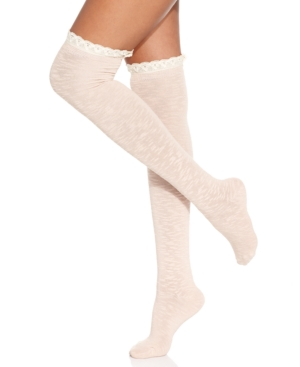 Jessica Simpson - Slub Ruffle Over the Knee Socks