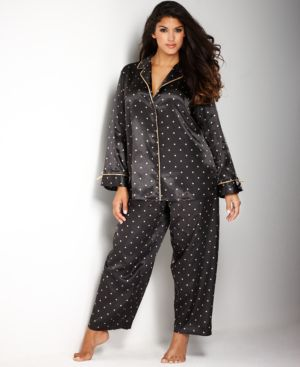Morgan Taylor Plus Size Notch Collar Pajama Set