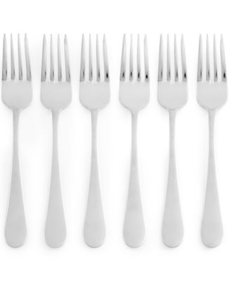 Martha Stewart Collection Everyday Entertaining Bartlett Set of 6 Salad Forks