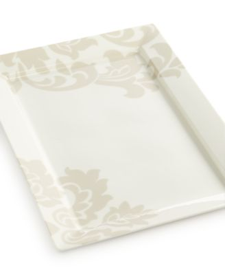 CLOSEOUT! Martha Stewart Collection Lisbon Gray Rectangular Platter
