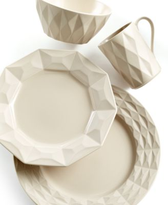kate spade new york Castle Peak Hazelnut 4 Piece Place Setting