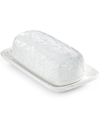 Maison Versailles Blanc Butter Dish