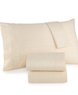 Bar III Basket Weave Gold Pair of Standard Pillowcases
