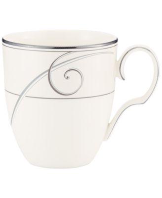 Noritake Dinnerware, Platinum Wave Mug