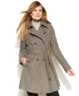 DKNY Belted WoolBlend Trench Coat