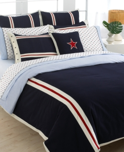 Tommy Hilfiger American Clics Solid Comforter Full Queen Bedding