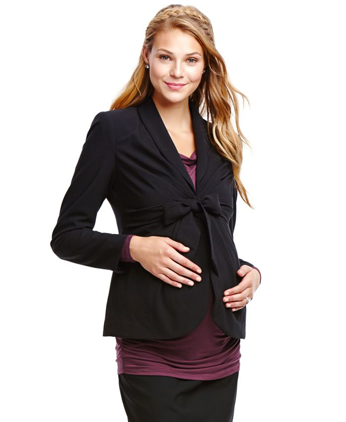 Jessica Simpson - Maternity Tie-Front Blazer