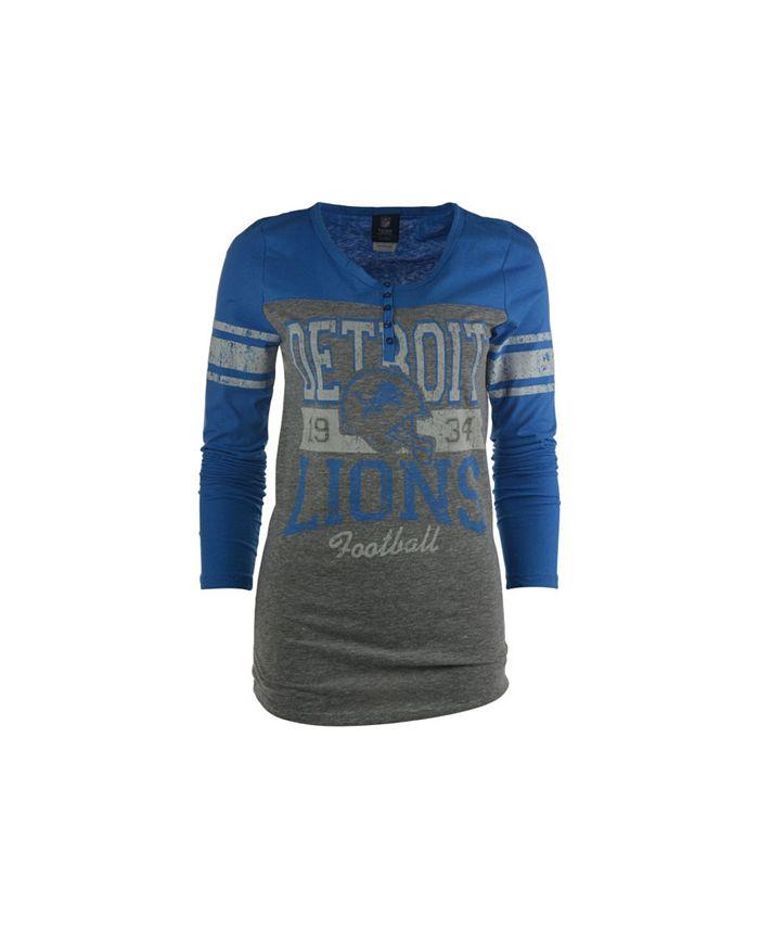 5th & Ocean - Women's Long-Sleeve Detroit Lions Vintage Graphic T-Shirt