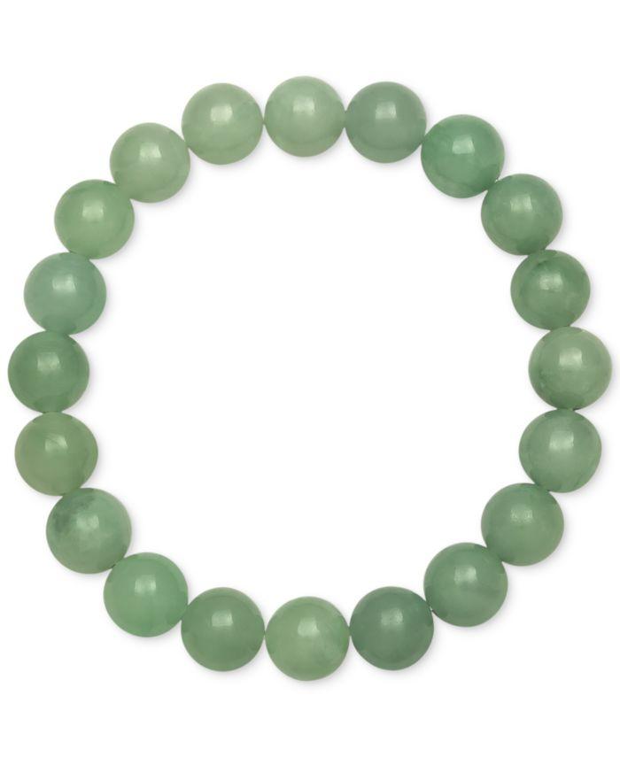 Macy's Dyed Jade Stretch Bracelet (10mm) & Reviews - Bracelets - Jewelry & Watches - Macy's
