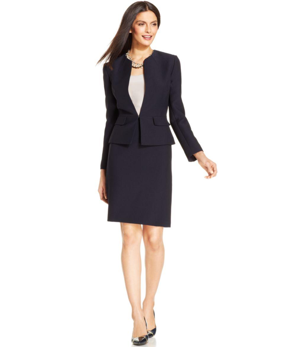 faf1c48cf3c Tahari ASL Petite Textured Skirt Suit Wear to Work Women on PopScreen
