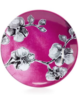 MADHOUSE by Michael Aram Black Orchid Melamine Luncheon Plate