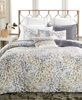 INC International Concepts Cheetah Graphite Full/Queen Comforter Set