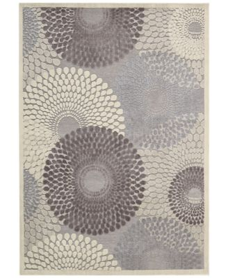 "CLOSEOUT! Nourison East Hampton Spiral Grey 3'6"" x 5'6"" Area Rug"