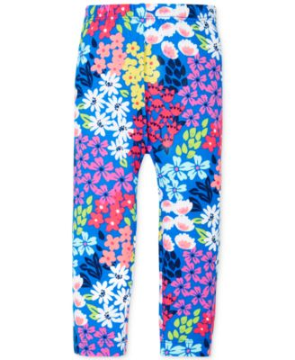 First Impressions Baby Girls' Garden Floral-Print Leggings