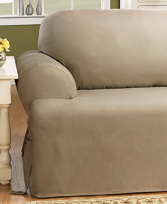 Sure Fit Duck T Cushion Chair Slipcover Slipcovers For