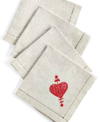 Heart of Haiti Erzulie Set of 4 Cocktail Napkins