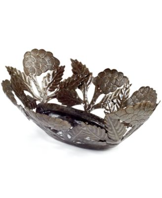 Heart of Haiti Metal Grapes Bowl