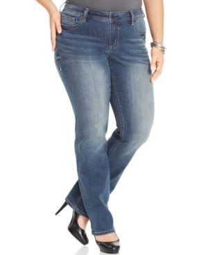 Seven7 Jeans Plus Size Straight-leg Jeans, Levitt Wash