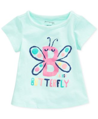 First Impressions Baby Girls' Butterfly Tee