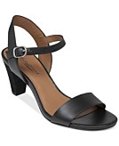 Lucky Brand Womens Pepperr Two Piece Mid Heel Sandals Womens Shoes