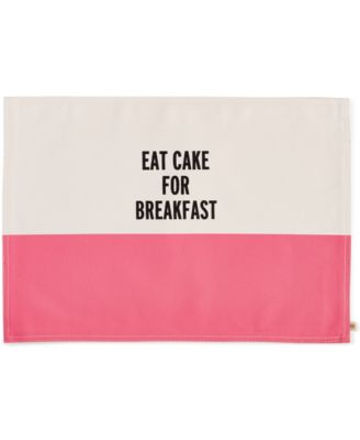 kate spade new york Food for Thought Eat Cake for Breakfast Placemat