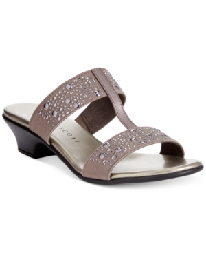 Karen Scott Eddina Embellished Slide Sandals, Only at Macy's Women's Shoes