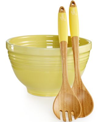 Fiesta Sunflower 3-Piece Salad Set
