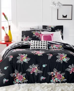 Closeout! Martha Stewart Collection Whim Night Blooms 5 -Pc. King Comforter Set, Only at Macy's Bedding