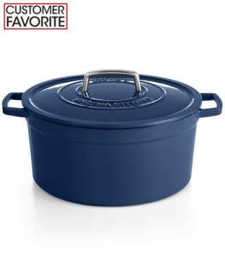Martha Stewart Collection Collector's Enameled Cast Iron 8 Qt. Round Casserole