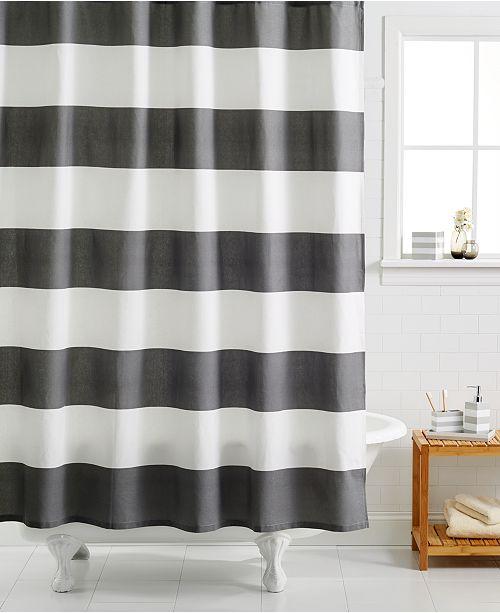 لمعان صورة فوتوغرافية الحدود striped shower curtain