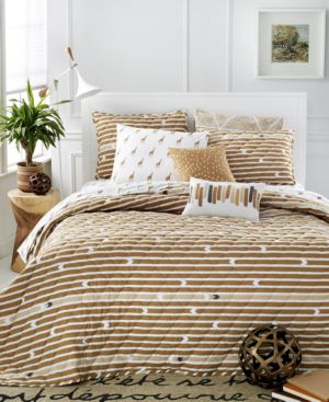 Closeout! Martha Stewart Collection Whim Straight Arrow Twin/Twin Xl Quilt, Only at Macy's Bedding