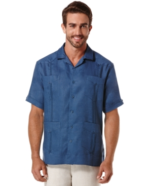 Cubavera Short-Sleeve 4-Pocket Guayabera Shirt $59.99 AT vintagedancer.com