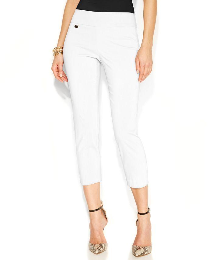 Alfani - Skinny Pull-On Capri Pants