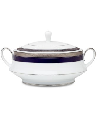"Noritake ""Crestwood Cobalt Platinum"" Covered Vegetable"