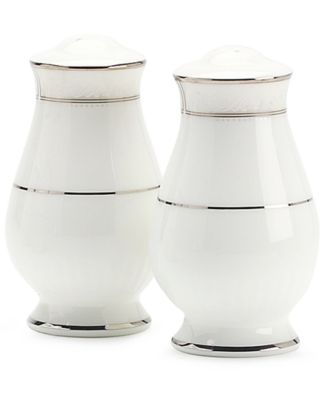 "Noritake ""Montvale Platinum"" Salt & Pepper Shakers"