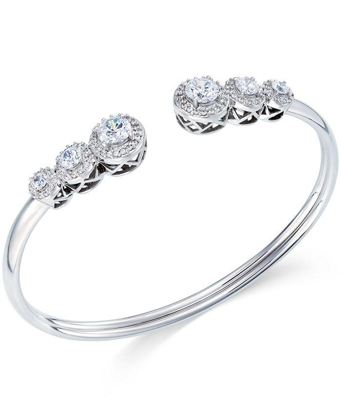 Arabella - Swarovski Zirconia Bangle Bracelet in Sterling Silver