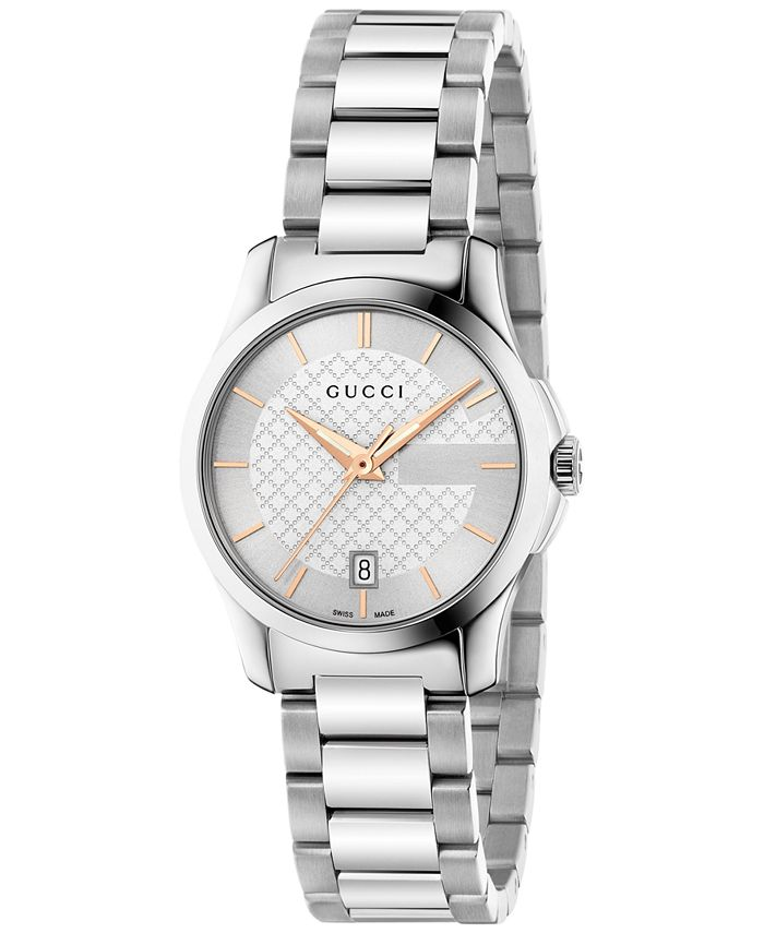 Gucci - Women's Swiss G-Timeless Stainless Steel Bracelet Watch 27mm YA126523