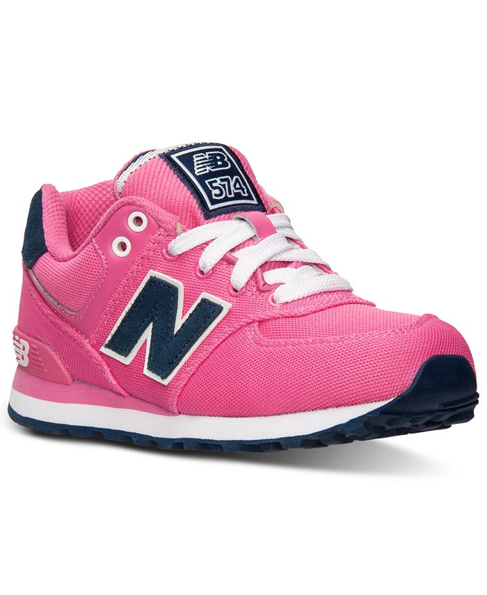 New Balance - Little Girls' 574 Pique Polo Casual Sneakers from Finish Line
