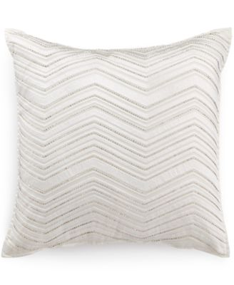 "Hotel Collection Woven Texture 18"" Square Decorative Pillow"