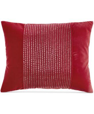 "INC International Concepts Acra Pleated Velvet 14"" x 20"" Decorative Pillow"