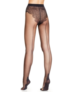 Pretty Polly Pretty Flirty Back Seam Tights $20.64 AT vintagedancer.com