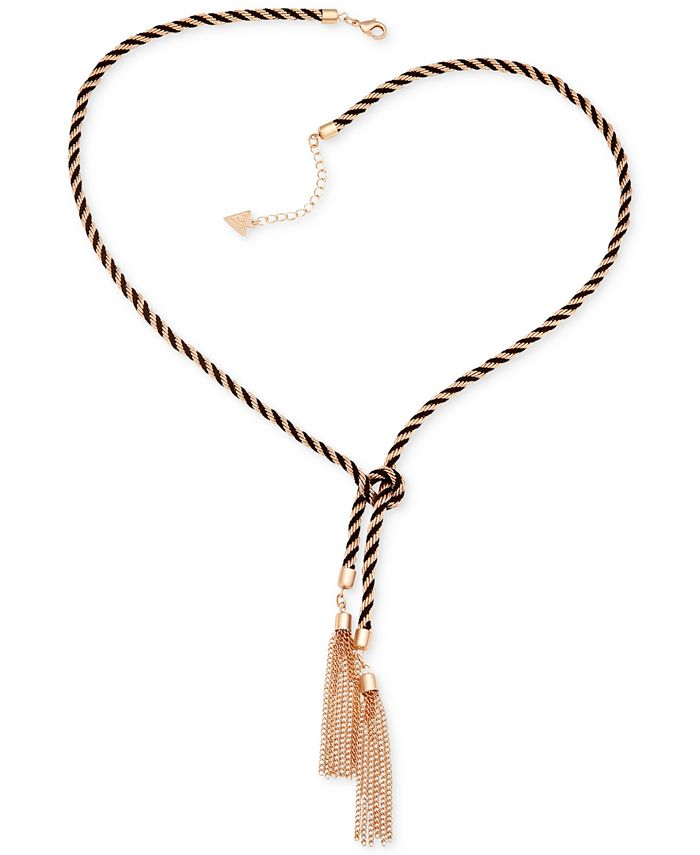 GUESS - Two-Tone Knotted Tassle Necklace