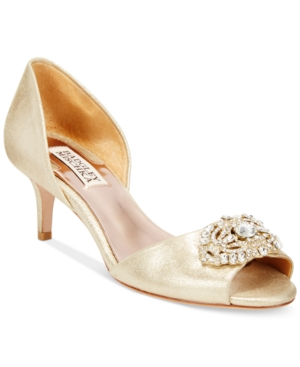 Badgley Mischka Petrina Ii Two-Piece Pumps Women's Shoes
