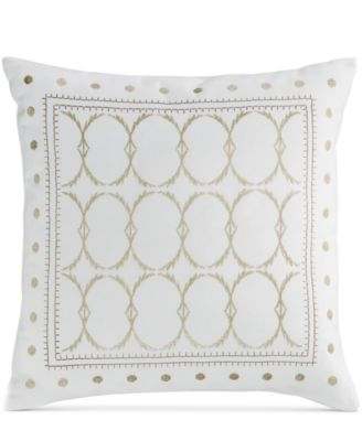 "Bar III Token Embroidered 18"" Square Decorative Pillow"